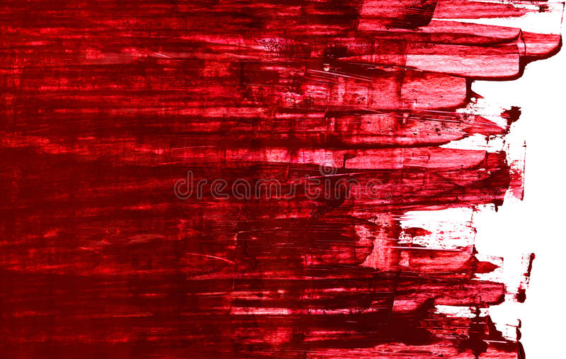 Red. Painting, abstract energy style, deep red background royalty free stock images