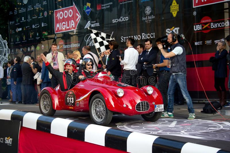 Download Red 1948 Fiat RG1 At The Start Of 2012 1000 Miglia Editorial Photography - Image: 25564047