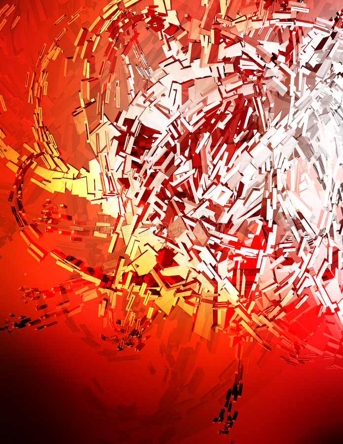 Red 3D Background. Nice clean rendered background stock illustration