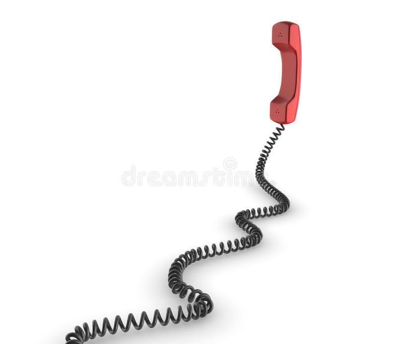 Red 3d phone stock illustration