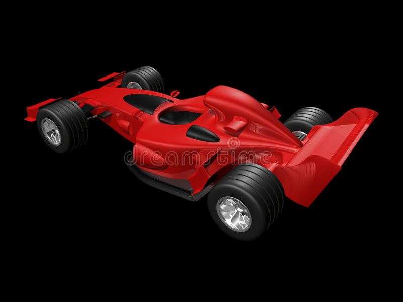 Download Red 3D race car rear view stock illustration. Image of indy - 5280767
