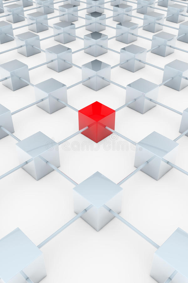 Download Red 3D square stock illustration. Image of mistake, connected - 23611144