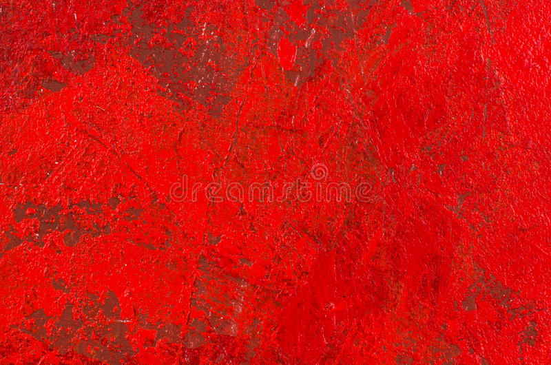 Red abstract acrylic painting vector illustration