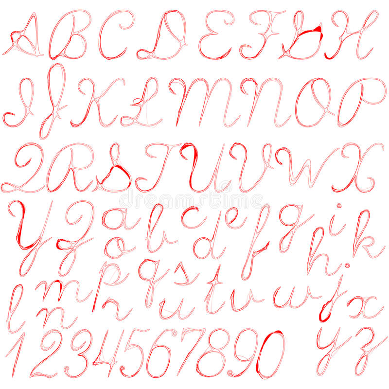 Abstract Alphabet Font . Modern Typography Type Letters