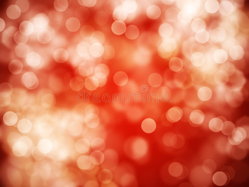 Red abstract background. With bokeh defocused lights stock photography
