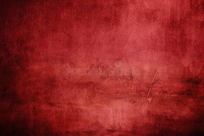 Red abstract background. On canvas texture stock image