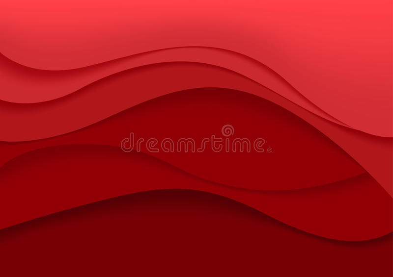 Red Abstract Background stock illustration