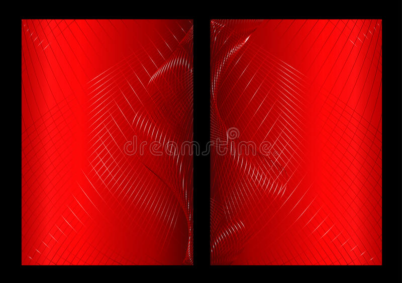 Red Abstract Background, Front And Back Royalty Free Stock Photo