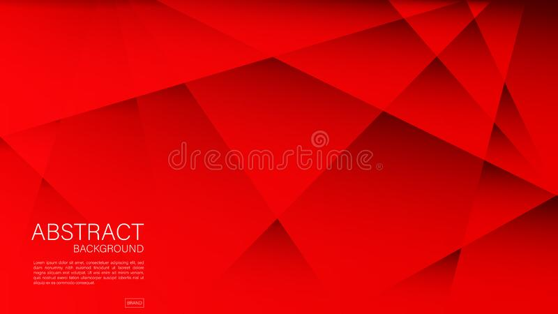 Red abstract background, Geometric vector, graphic, Minimal Texture, cover design, flyer template, banner, web page, book cover. Advertisement, printing stock illustration