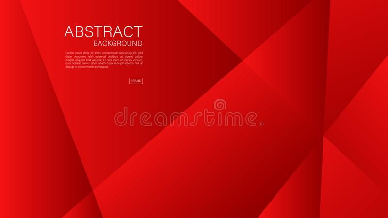 Red abstract background, Geometric vector, graphic, Minimal Texture, cover design, flyer template, banner, web page, book cover. Advertisement, printing royalty free illustration