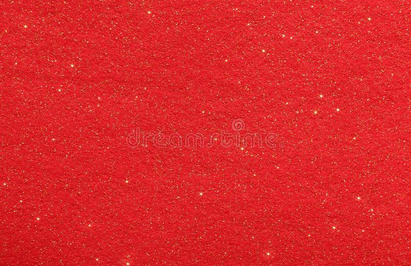 Red abstract background with glittering stars stock photography