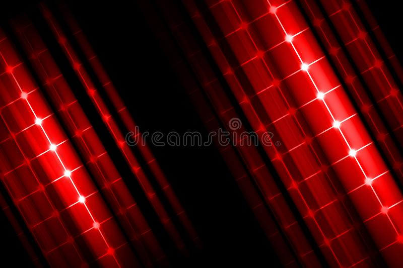 Red Abstract background, motion blur and grid vector illustration
