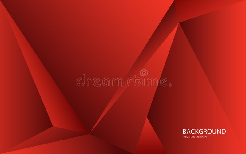 Red abstract background vector illustration. wall. web banner. cover. card. texture. wallpaper. flyer. Brochure. annual report. polygonal vector concept stock illustration