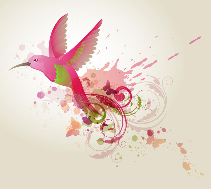 Red abstract bird royalty free illustration