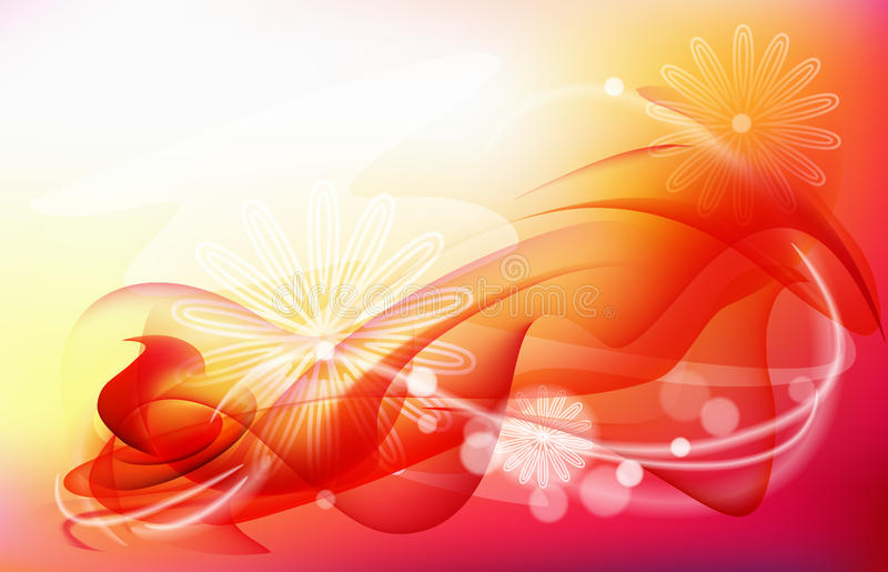 Red Abstract C Background Stock Image