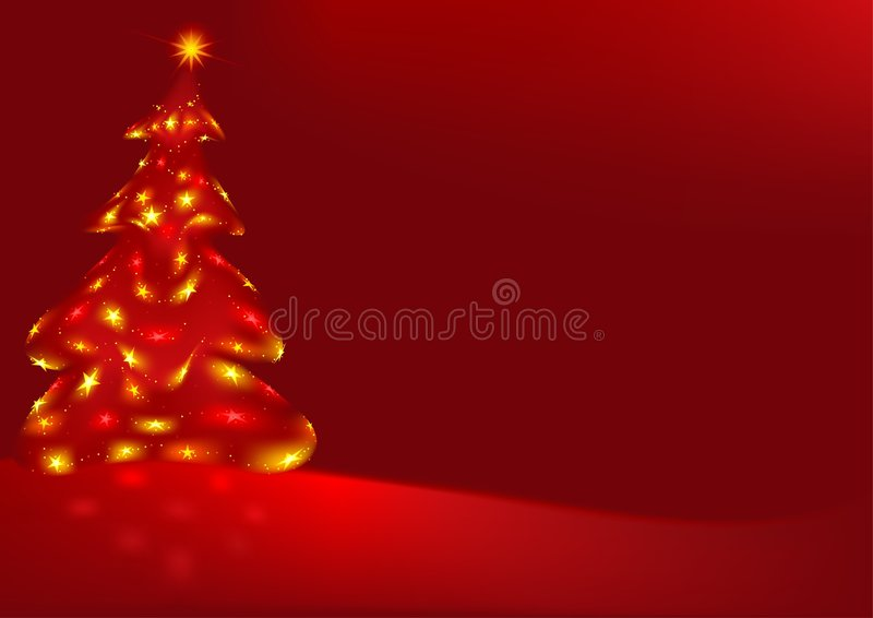 Red Abstract Christmas royalty free illustration