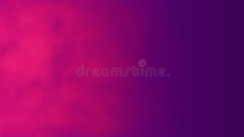Red abstract cloud of smoke pattern. On a purple background. 3d render, . Good for advertising mobile devices, phone screens, computer, video displays, TV royalty free illustration