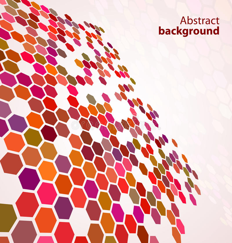 Red abstract digital background stock illustration