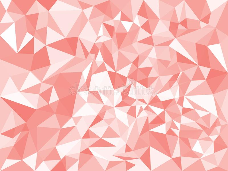Red abstract geometric polygonal texture. Triangles. Vector illustration. Background vector illustration