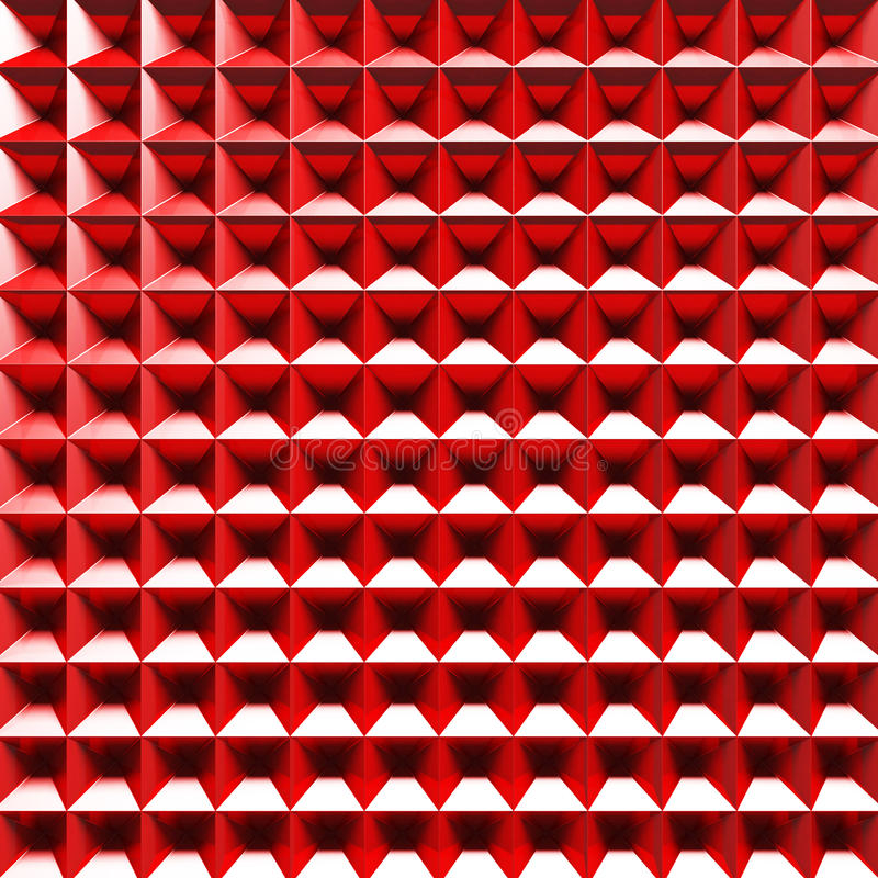 Abstract 3d Logo Computer Icon Red Part Figure Stock