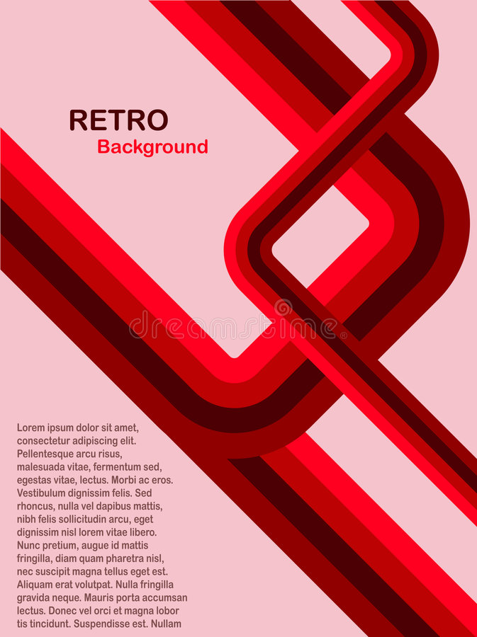 Red Abstract Retro Background royalty free illustration