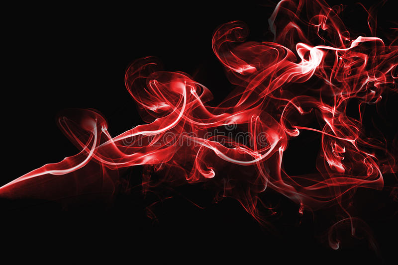 Red abstract smoke design royalty free stock images