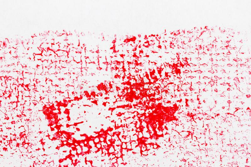 Red abstract spotted acrylic art background stock photo