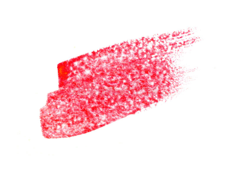 Red Abstract stroke with acrylic paint brush on white background stock images