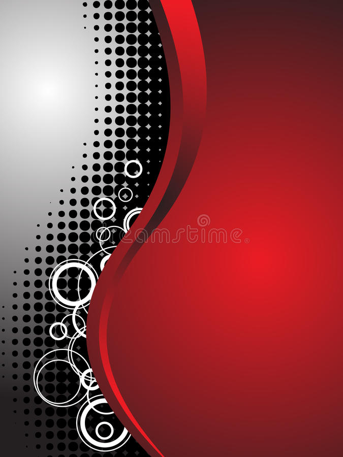 Red Abstract Technology Business Background stock illustration