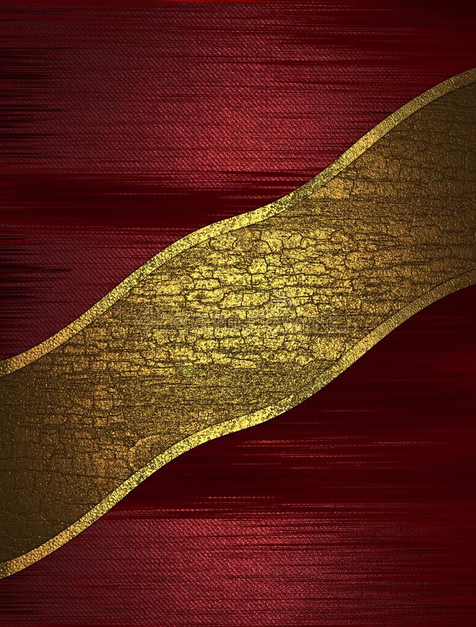 Red abstract texture with cracked yellow ribbon. Template for design. copy space for ad brochure or announcement invitation, abstr stock image