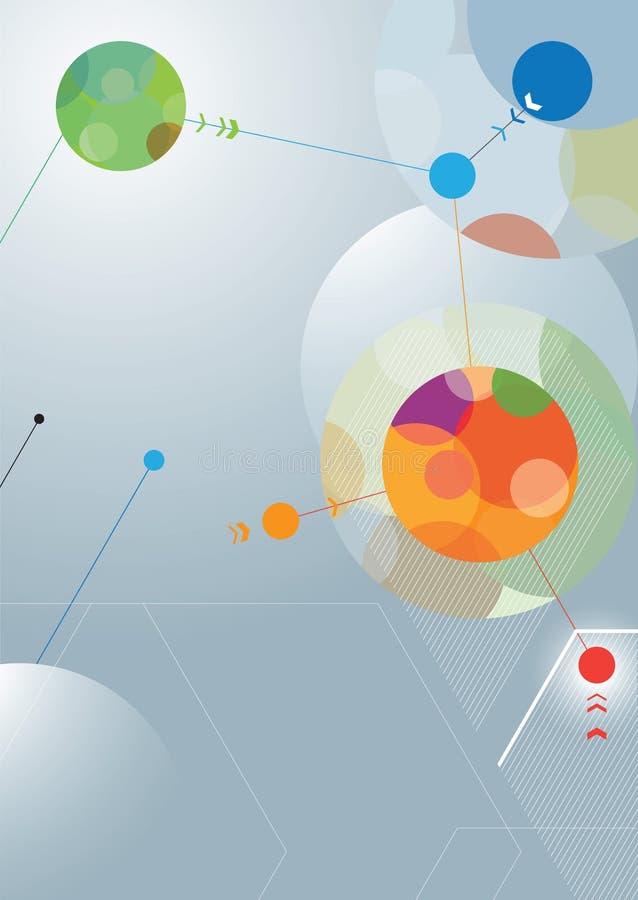 Red abstracta del diseño del cartel ilustración del vector