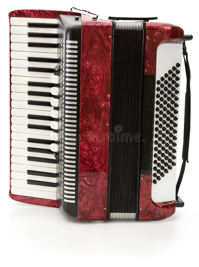 Free Red Accordion Royalty Free Stock Images - 3446449