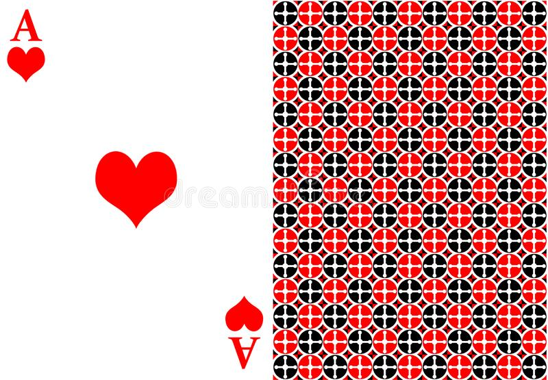 Red ace card stock photos