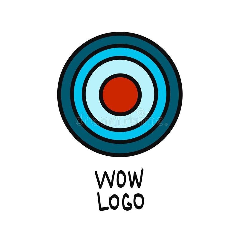 Red aim, Idea concept, perfect hit, winner, target goal icon. Success abstract pin logo royalty free illustration