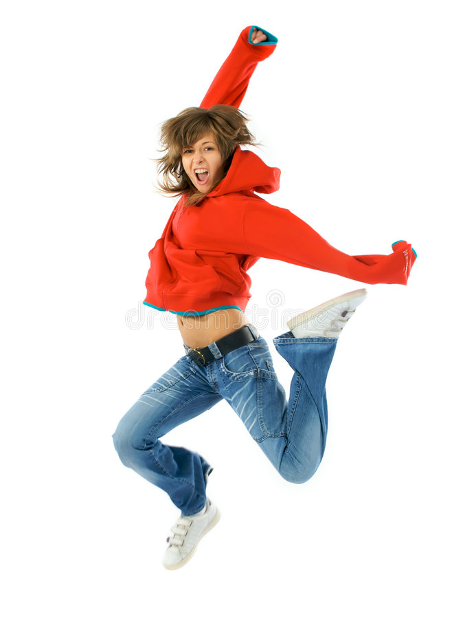 Red air dance royalty free stock images