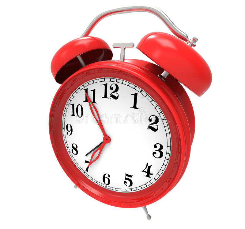 Red alarm clock royalty free illustration
