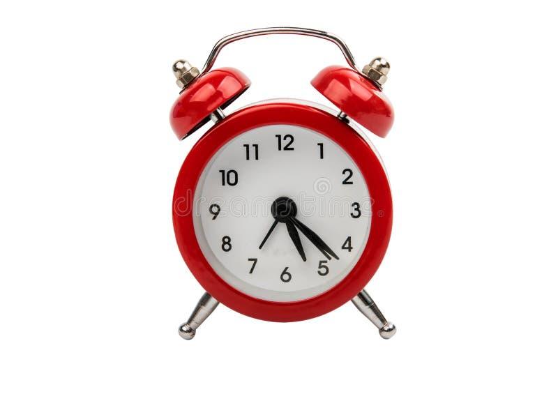 red alarm clock royalty free stock image