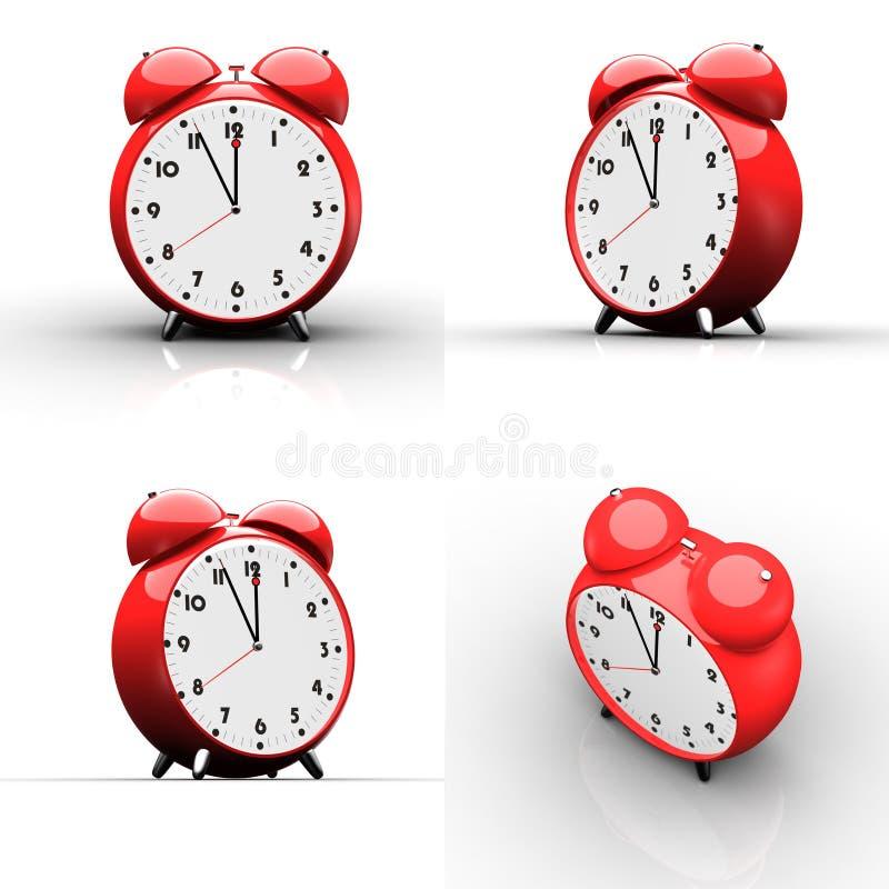 Download Red Alarm Clock On White Background Stock Illustration - Image: 9596524