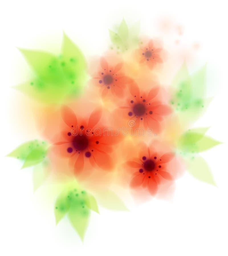 Red amaryllis belladonna flowers stock illustration