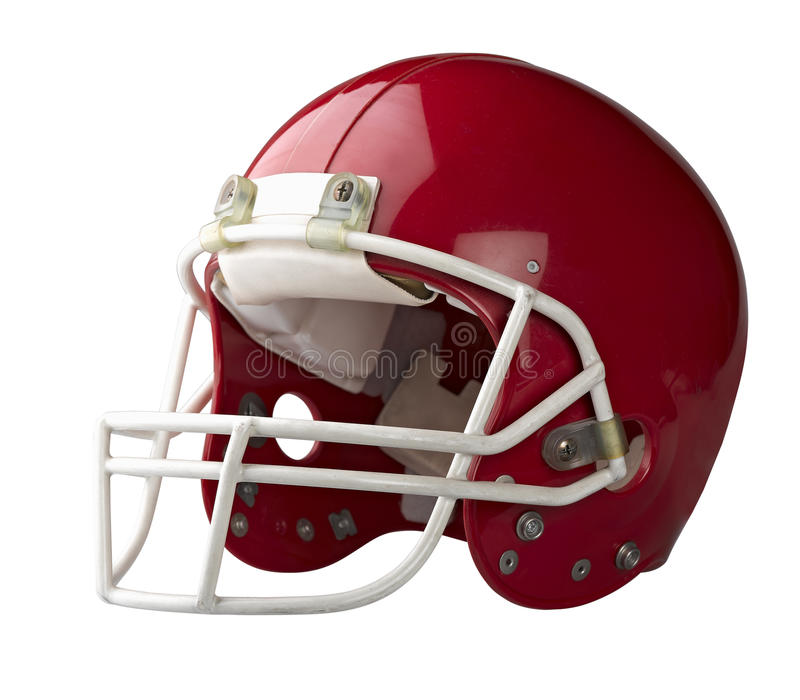 Red American football helmet royalty free stock image