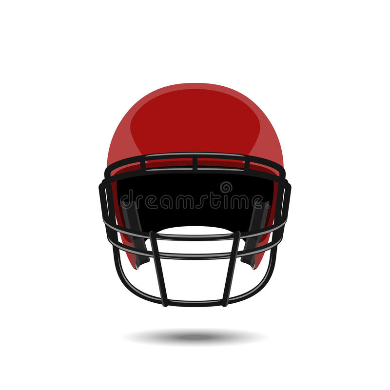 Red american football helmet on white background. Sports protection in a realistic style. Vector illustration vector illustration
