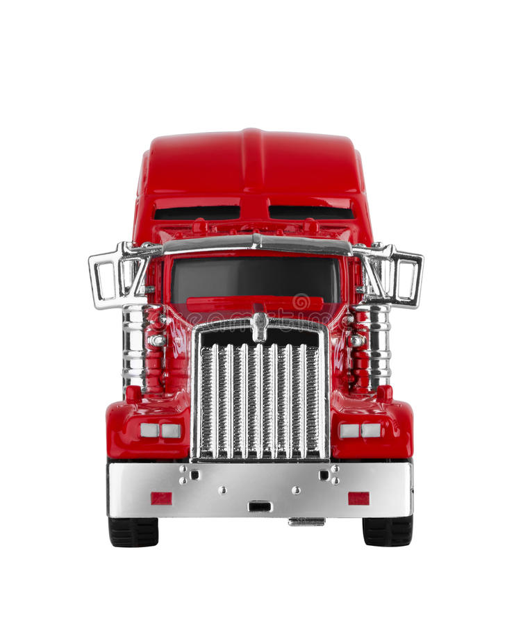 Red american truck. Isolated on white background. Model royalty free stock photos