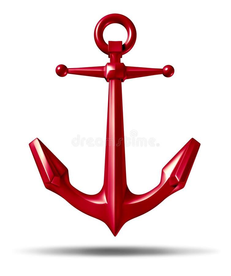 Download Red Anchor stock illustration. Illustration of background - 23708972