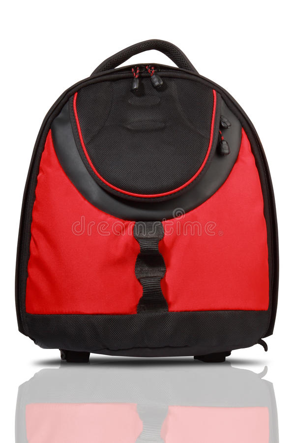 Free Red And Black Colored Backpack Stock Image - 13707781
