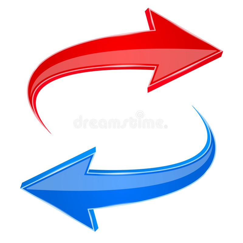 Free Red And Blue Arrows. Back And Next 3d Signs Royalty Free Stock Photos - 123438278