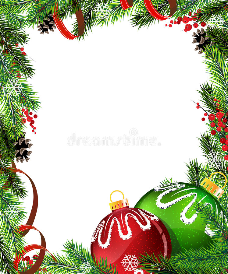 Free Red And Green Christmas Tree Decorations With Red Royalty Free Stock Photography - 36205387