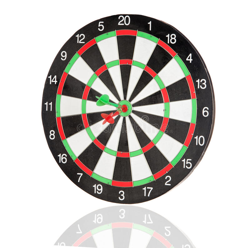 Free Red And Green Darts Punctured In The Center Stock Photos - 12814223