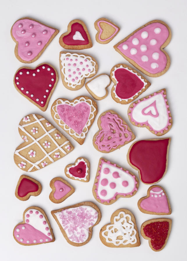 Free Red And Pink Heart Cookies Royalty Free Stock Image - 30632786