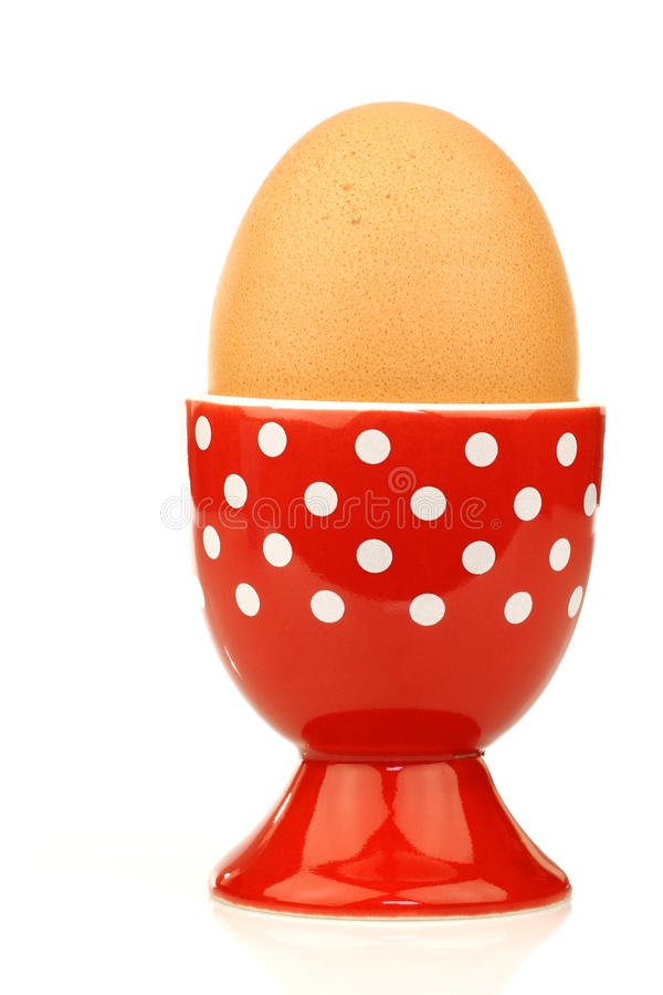 Free Red And White Eggcup With An Egg Royalty Free Stock Photo - 18864705