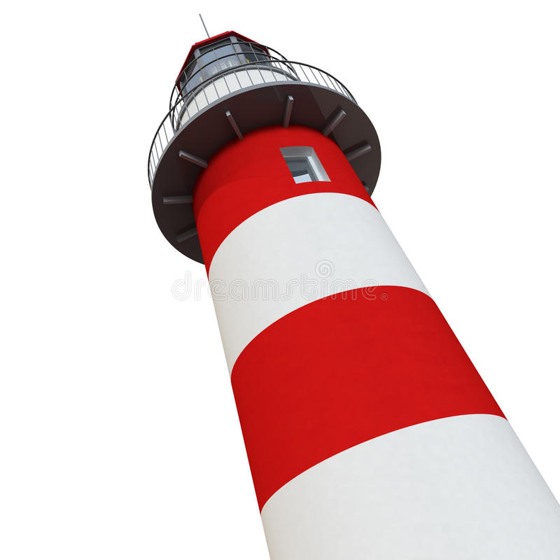 Free Red And White Lighthouse Royalty Free Stock Image - 13025176